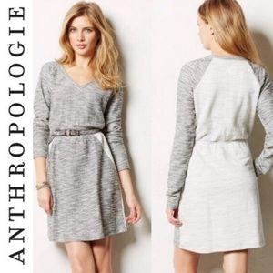 ANTHRO SAT/SUN Colorblock Gray Knit Dress
